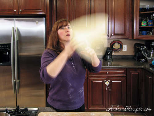 Andrea's Recipes - The Daring Bakers toss pizza