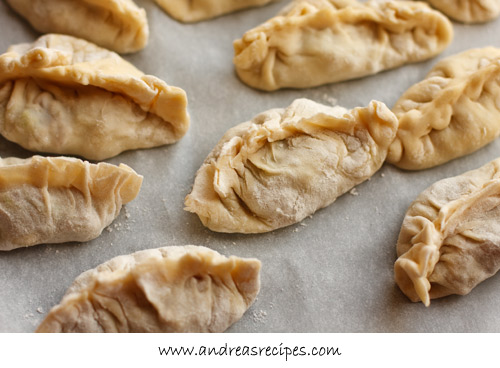 Andrea's Recipes - Chinese Dumplings and Potstickers, shaped