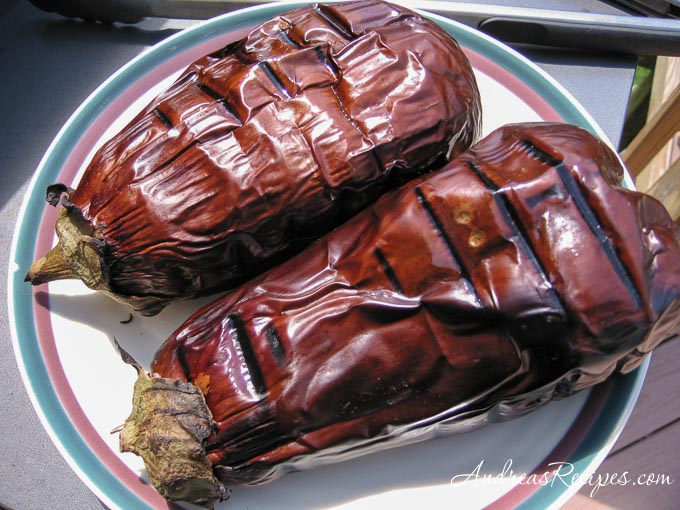 Grilled Eggplant, whole