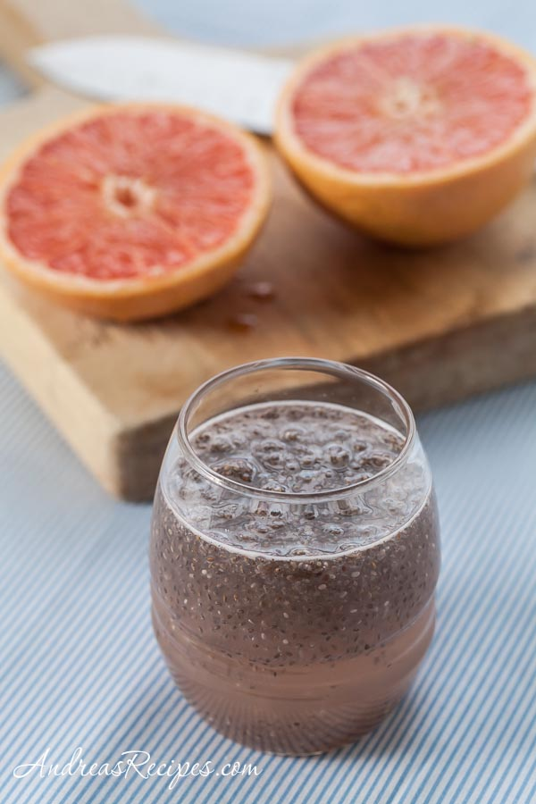 Fresh Grapefruit and Chia Drink (Chia Fresca con Toronja) - Andrea Meyers