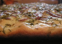 Living in the Kitchen with Puppies - Herb Focaccia