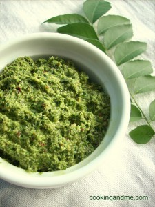 Edible Garden - Curry Leaves Chutney (Kariveppilai Chutney)