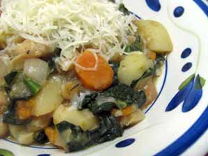 Green Gourmet Giraffe - Potato, Bean, and Kale Soup