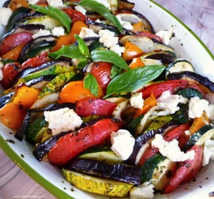 TasteFood - Provençal Vegetable Tian with Goat Cheese and Basil Coulis