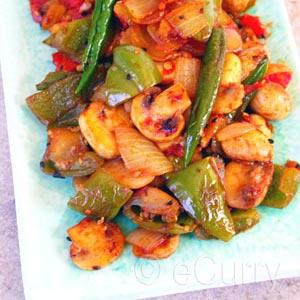 eCurry - Mushroom Pepper Fry