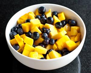 Andrea Meyers - Mango Blueberry Salad with Ginger Vinaigrette
