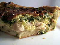 Kookjegek, Endive & chicken quiche