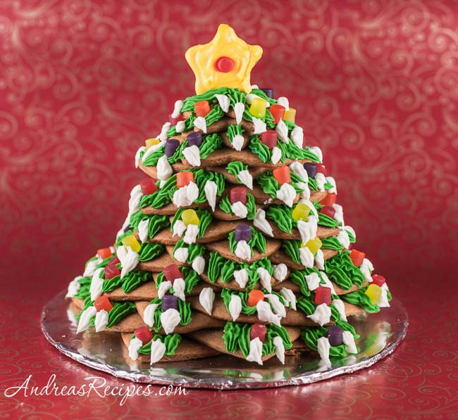 Gingerbread christmas tree recipe andrea meyers gingerbread christmas tree forumfinder Images