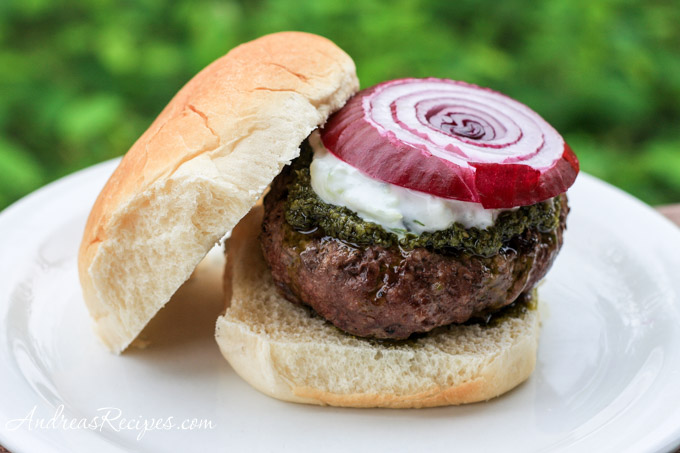 Andrea's Recipes - Greek Burger