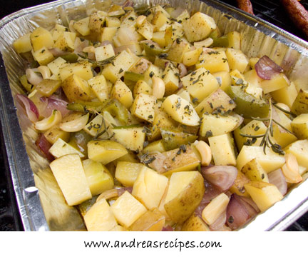 Andrea's Recipes - Grilled Potatoes with Garlic and Herbs