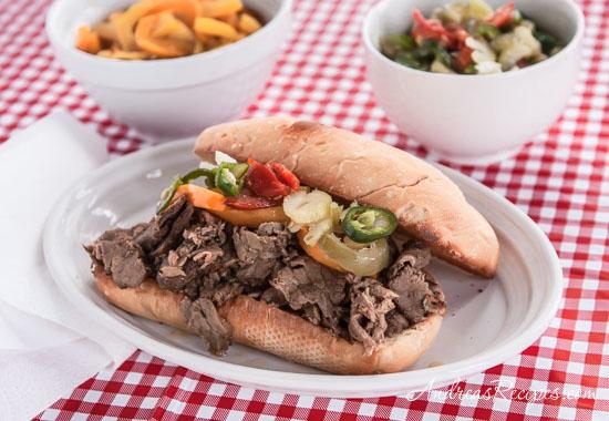Italian Beef Sandwich - Andrea Meyers