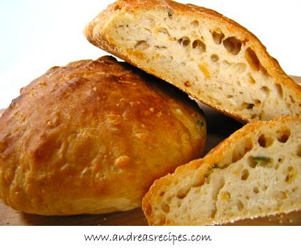 Jalapeno Cheddar No-Knead Bread
