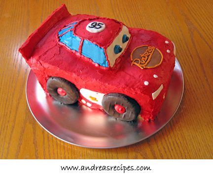 Lightning McQueen Birthday Cake Andrea Meyers