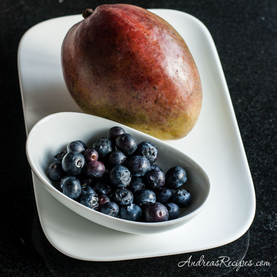 Andrea Meyers - mango and blueberries