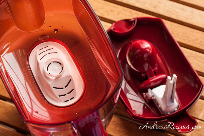 Andrea Meyers - Mavea Elemaris XL Water Filtration Pitcher, Ruby Red