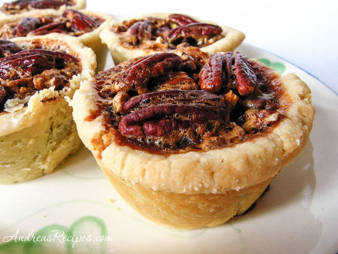 Andrea's Recipes - Mini Chocolate Pecan Pies