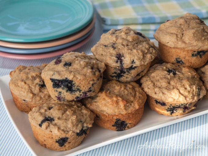 Blueberry Lemon Yogurt Muffins - Andrea Meyers