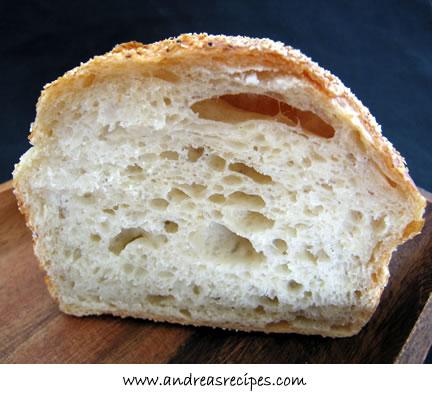 No-Knead Bread Interior