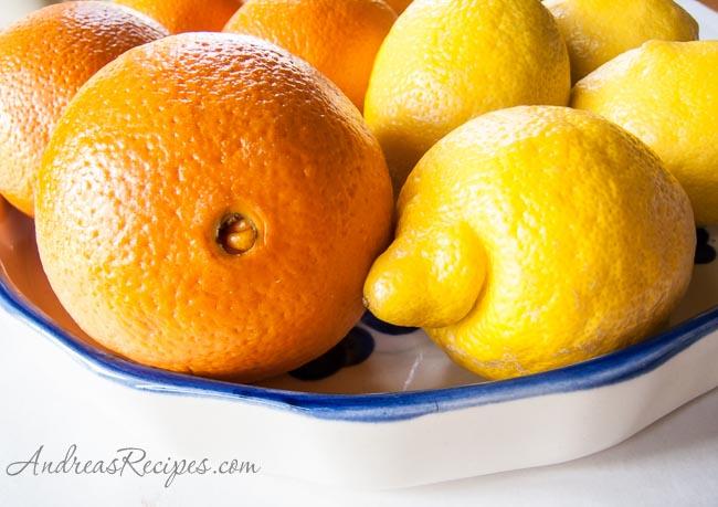 Andrea's Recipes - oranges and lemons
