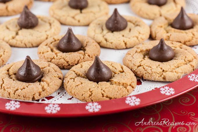 Peanut Butter Kiss Cookies - Andrea Meyers