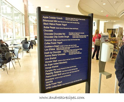 Andrea Meyers - Penn State Berkey Creamery, menu