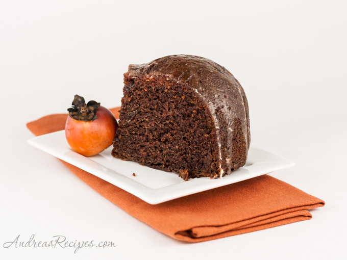 Andrea Meyers - Spiced Persimmon Cake with Dates and Lemon Glaze