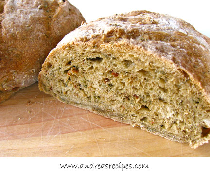 Pesto No-Knead Bread