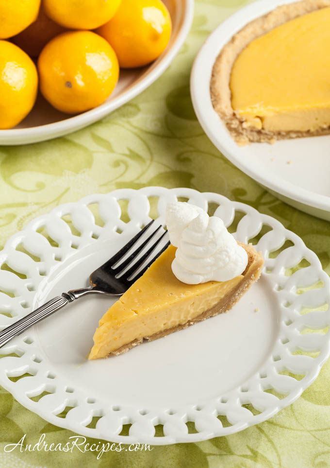 Meyer Lemon Pie - Andrea Meyers