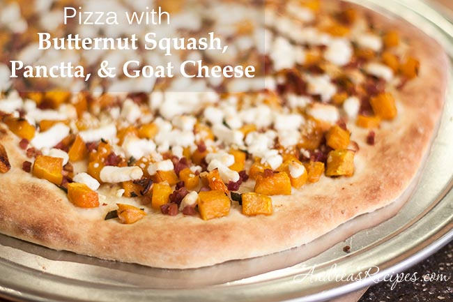 Andrea's Recipes - Butternut Squash Pizza with Pancetta, Goat Cheese, and Sage