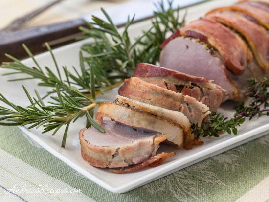 Andrea Meyers - Roasted Bacon-Wrapped Pork Tenderloin