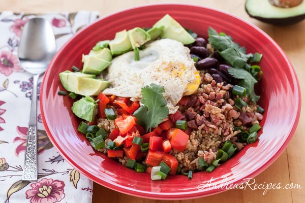 Quinoa and Egg Breakfast Bowl - Andrea Meyers