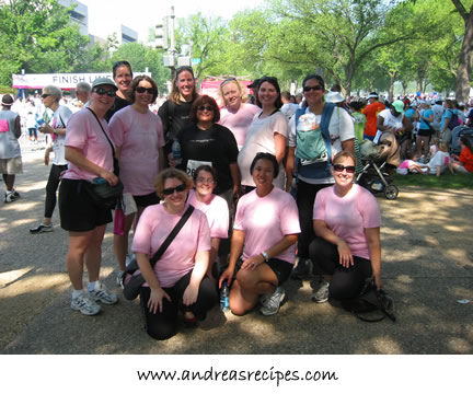 Race for the Cure finish