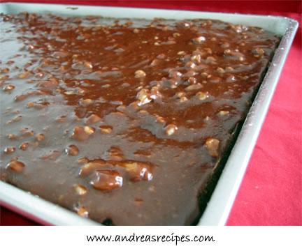 Mom's Retro Chocolate Sheet Cake