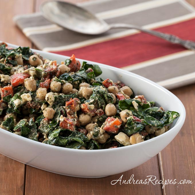Mediterranean Spinach and Bean Salad (LifeCafe) - Andrea Meyers