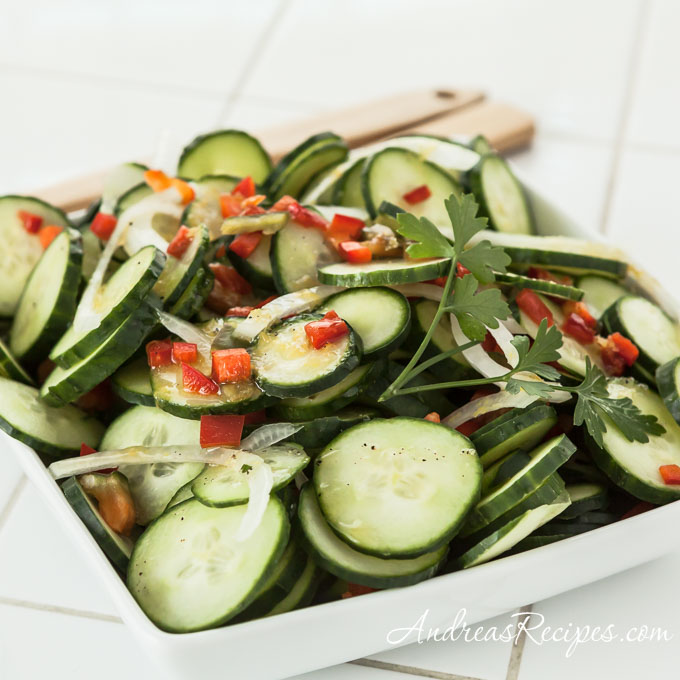 Lemon Cucumber Salad - Andrea Meyers