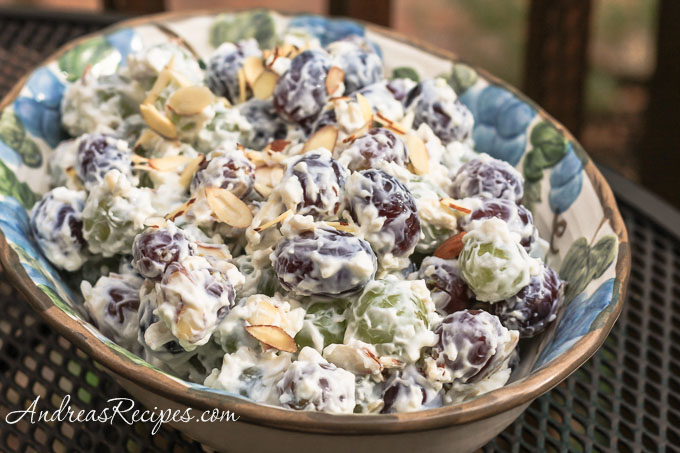 Grape Salad with Almonds - Andrea Meyers