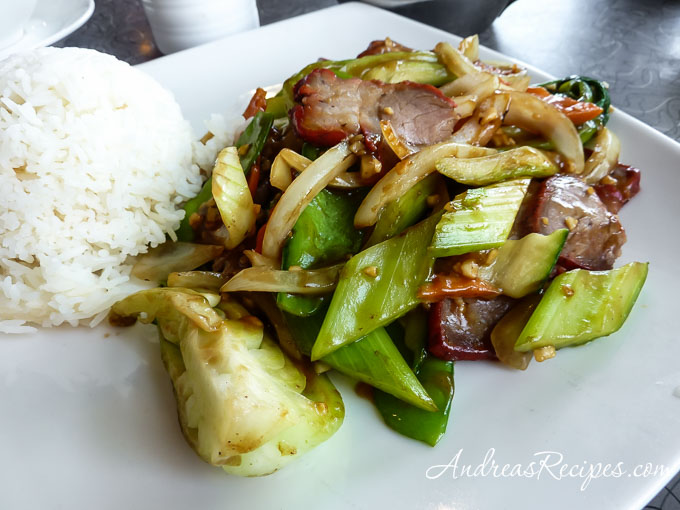 Andrea Meyers - Barbecued Pork and Vegetables at Pike Place Chinese Cuisine, Seattle