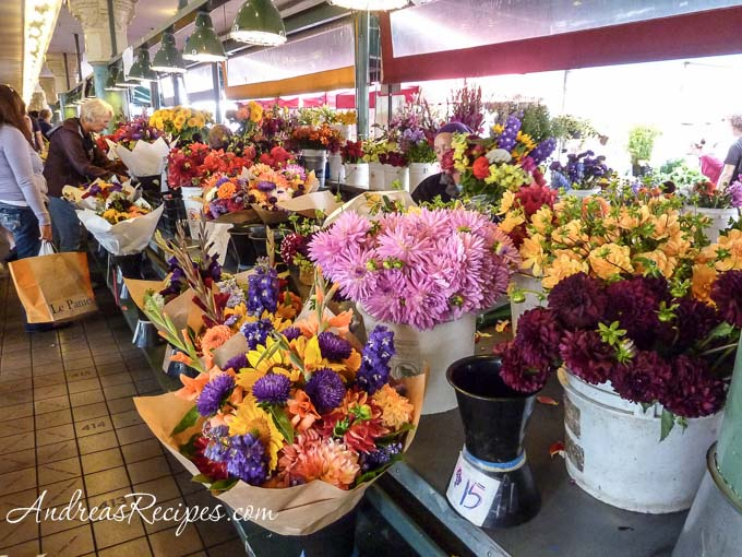 Andrea Meyers - flowers at Pike Place Market, Seattle