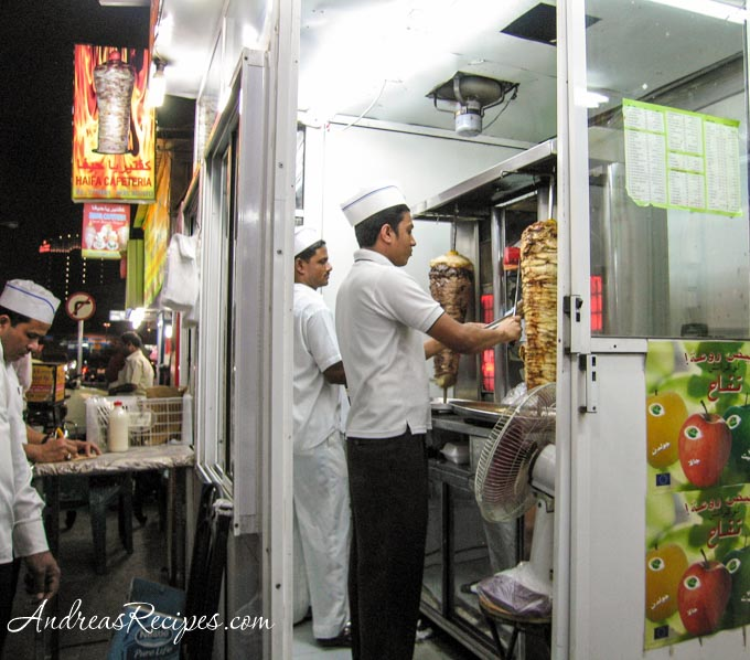 Andrea Meyers - Shawarma preparation, Bahrain