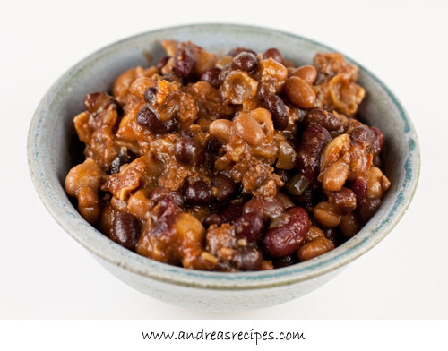 Andrea's Recipes - Slow-Cooker Four Bean Baked Beans