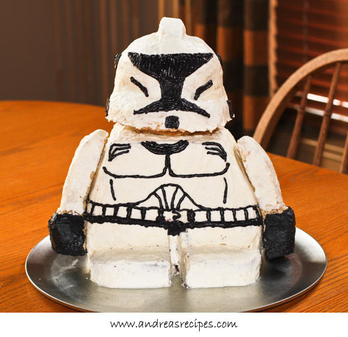 Lego Star Wars Stormtrooper Birthday Cake Recipe Andrea
