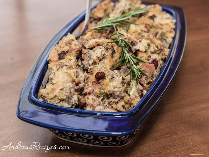 Andrea Meyers - Gluten-Free Cornbread and Sausage Stuffing with Herbs