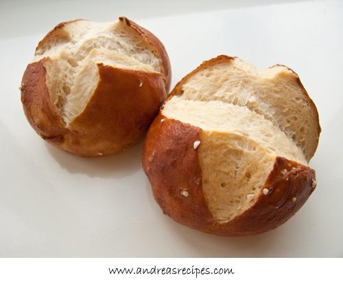 Andrea's Recipes -Stuttgart Markthalle, laugenbrotchen (pretzel rolls)