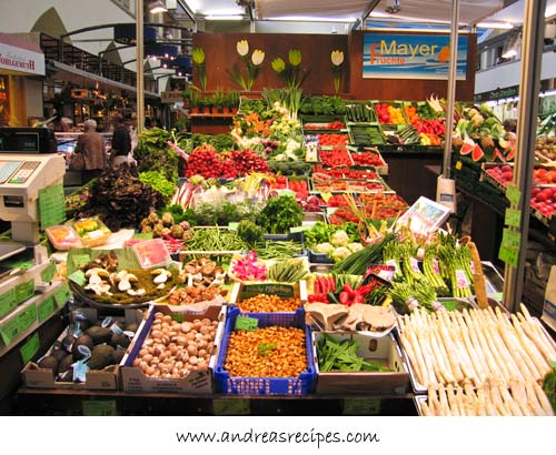 Andrea's Recipes - Stuttgart Markthalle, produce