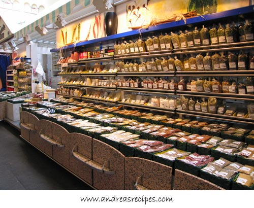 Andrea's Recipes - Stuttgart Markthalle, spice shop