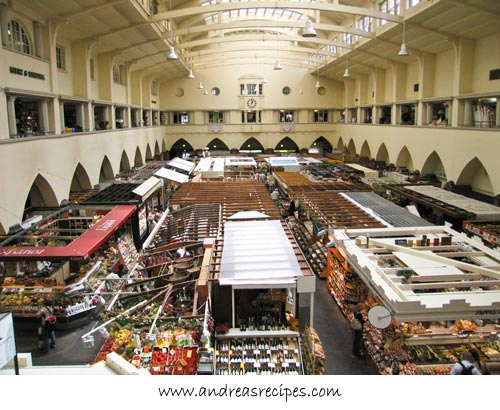 Andrea's Recipes - Stuttgart Markthalle, view from the second floor
