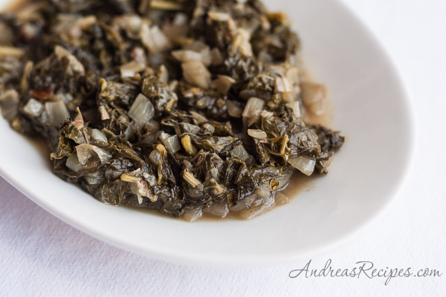 Tatsoi with Garam Masala - Andrea Meyers