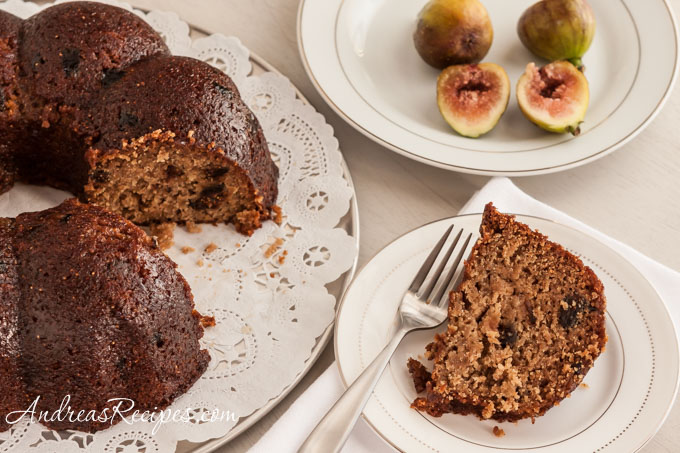 Andrea Meyers - Fig Bundt Cake with Honey Butter Glaze