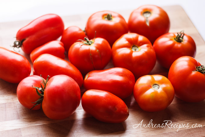 Andrea Meyers - tomatoes, fresh from the garden