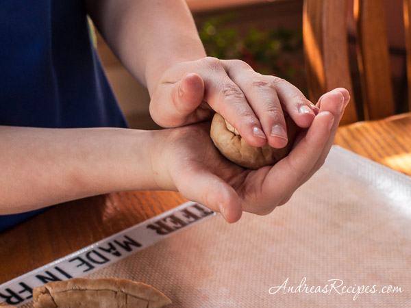 Andrea Meyers - Rolling the dough, Whole Wheat Tortillas.
